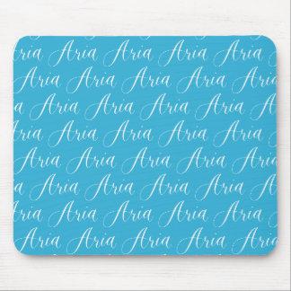 Aria - diseño moderno del nombre de la caligrafía mouse pad