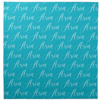 Aria - diseño moderno del nombre de la caligrafía servilleta imprimida