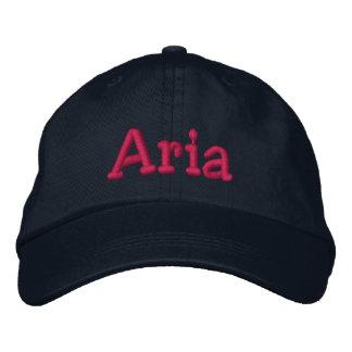 Aria Embroidered Baseball Cap Navy Hot Pink