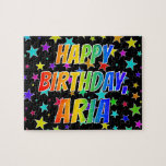 "[ Thumbnail: ""Aria"" First Name, Fun ""Happy Birthday"" Jigsaw Puzzle ]"
