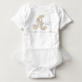 Aria girls name decorative custom meaning baby bodysuit