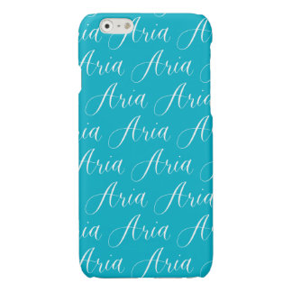 Aria - Modern Calligraphy Name Design Glossy iPhone 6 Case