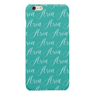 Aria - Modern Calligraphy Name Design Glossy iPhone 6 Plus Case