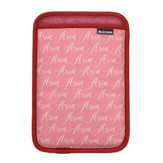 Aria - Modern Calligraphy Name Design iPad Mini Sleeve