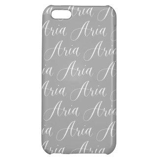Aria - Modern Calligraphy Name Design iPhone 5C Case