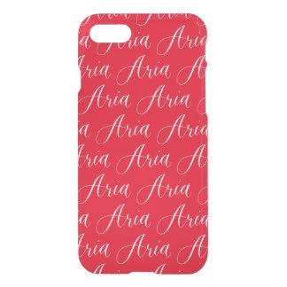 Aria - Modern Calligraphy Name Design iPhone 7 Case