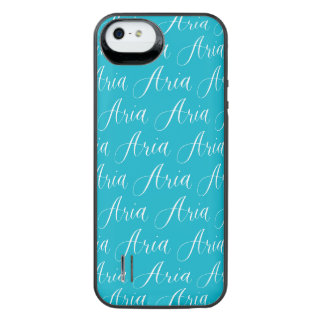 Aria - Modern Calligraphy Name Design iPhone SE/5/5s Battery Case