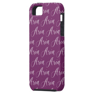 Aria - Modern Calligraphy Name Design iPhone SE/5/5s Case