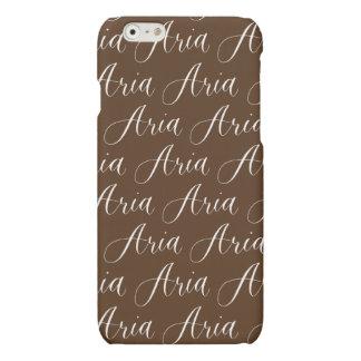 Aria - Modern Calligraphy Name Design Matte iPhone 6 Case