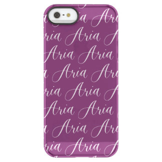 Aria - Modern Calligraphy Name Design Permafrost iPhone SE/5/5s Case