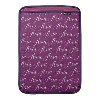 Aria - Modern Calligraphy Name Design Sleeve For MacBook Air