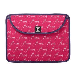 Aria - Modern Calligraphy Name Design Sleeve For MacBooks