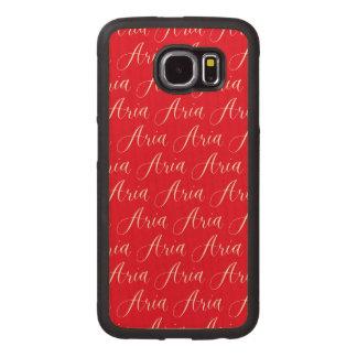 Aria - Modern Calligraphy Name Design Wood Phone Case