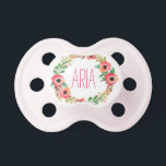 "&quot;Aria&quot; Simple &amp; Elegant Personalized Name Pacifier<br><div class=""desc"">Aria</div>"