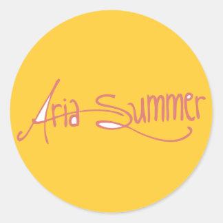 Aria Summer Logo Sticket Round Stickers