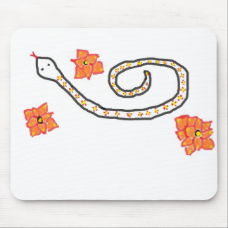 Aria the Flower Snake Mouse Pad