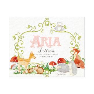 Aria Top 100 Baby Names Girls Newborn Nursery Gallery Wrap Canvas