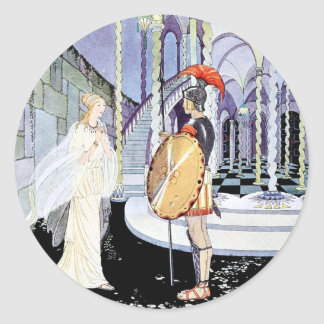 Ariadne and Theseus from Tanglewwod Tales Classic Round Sticker