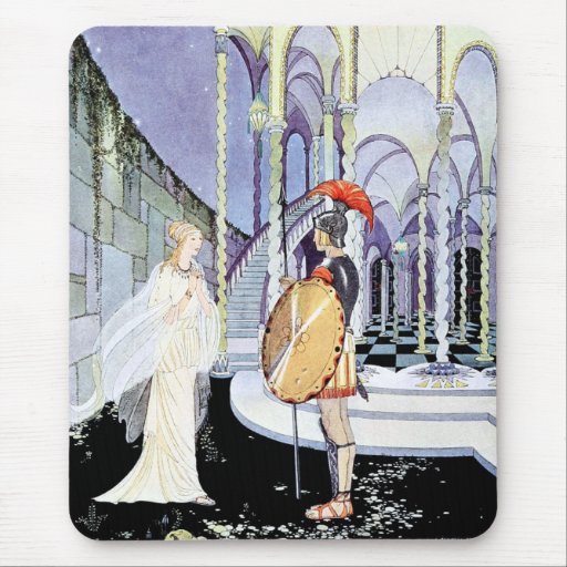 Ariadne and Theseus from Tanglewwod Tales Mouse Pad