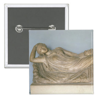 Ariadne Asleep, Hellenistic from Alexandria, 2nd c Pinback Button