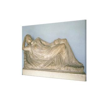 Ariadne Asleep, Hellenistic from Alexandria, 2nd c Canvas Print