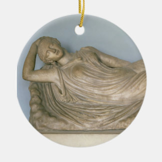 Ariadne Asleep, Hellenistic from Alexandria, 2nd c Double-Sided Ceramic Round Christmas Ornament