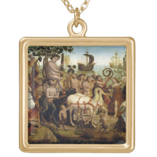 Ariadne in Naxos from the Story of Theseus oil o Necklaces