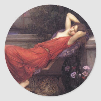 Ariadne [John William Waterhouse] Classic Round Sticker