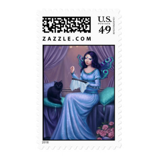 Ariadne Peacock Butterfly Fairy Art Postage