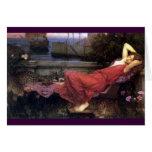 Ariadne que descansa en un sofá tarjeta de felicitación