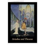 Ariadne y Theseus Tarjeta De Felicitación