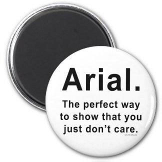 Arial Font Humor Mug 2 Inch Round Magnet