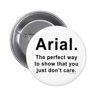 Arial Font Humor Mug Button
