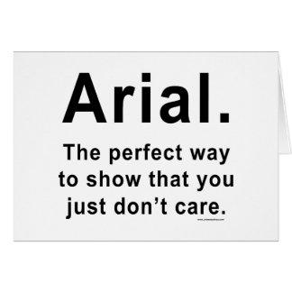 Arial Font Humor Mug Card