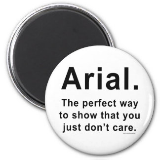 Arial Font Humor Mug Fridge Magnets