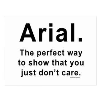 Arial Font Humor Mug Postcard
