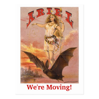 Arial Moving Postcard