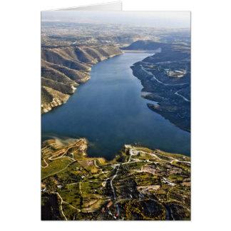 Arial view beautiful Lake Card