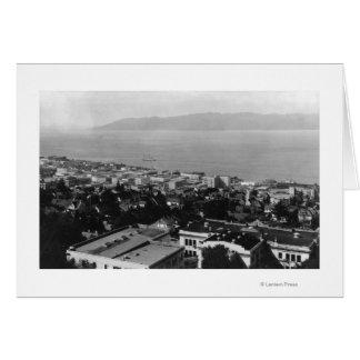 Arial View of Astoria, Oregon Photograph Card