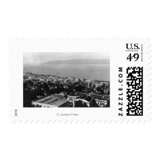 Arial View of Astoria, Oregon Photograph Postage