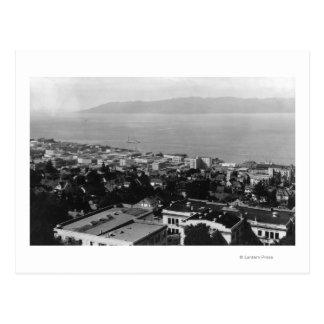 Arial View of Astoria, Oregon Photograph Postcard