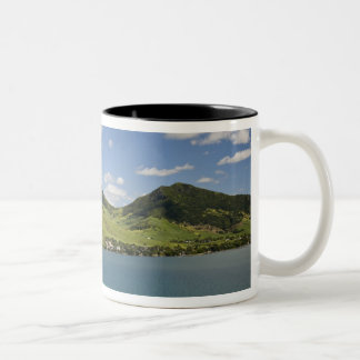 Arial view of Lion Mountain, South East Two-Tone Coffee Mug