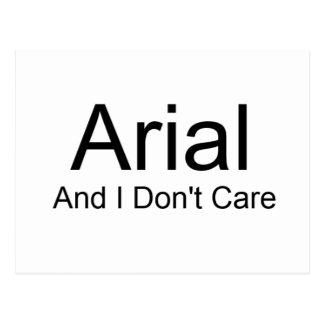 Arial y yo no cuidamos tarjetas postales