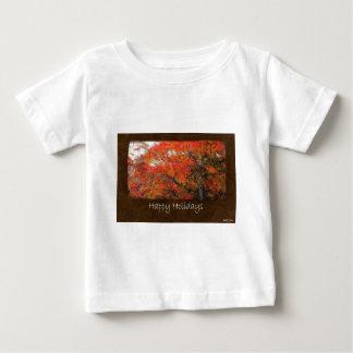 Ariana Autumn Leaves 1 Happy Holidays Baby T-Shirt