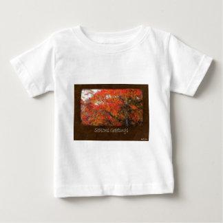 Ariana Autumn Leaves 1 Seasons Greetings Baby T-Shirt
