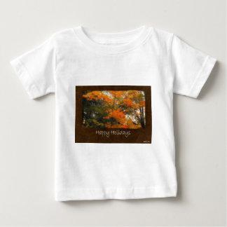 Ariana Autumn Leaves 2 Happy Holidays Baby T-Shirt