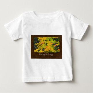 Ariana Autumn Leaves 3 Happy Holidays Baby T-Shirt