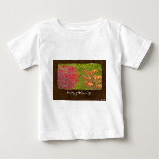 Ariana Autumn Leaves 4 Happy Holidays Baby T-Shirt