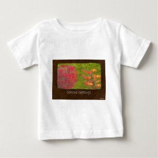 Ariana Autumn Leaves 4 Seasons Greetings Baby T-Shirt