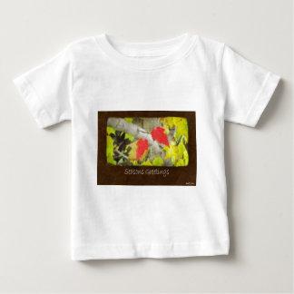 Ariana Autumn Leaves 5 Seasons Greetings Baby T-Shirt